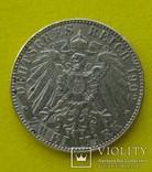 2 марки, Саксония, 1902 год., фото №3