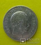 2 марки, Саксония. 1876 год. - Е., фото №2