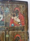 Четырёхчастная икона с сюжетами Богородицы, фото №4