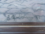 Зас. худ.укр. Цибере В. раз. 60 х 60 см. х.м. 1997 г. Закарпатская школа Виноделы., фото №4