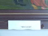 Зас. худ.укр. ЦИБЕРЕ В. раз. 60 х 60 см. х.м. 1993 г. Закарпатская школа Свадьба., фото №5