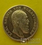 2 марки, Вюртемберг, 1876 год., фото №2