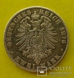 2 марки, Вюртемберг, 1876 год., фото №4