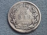 Швеция 25 эре 1856 года Серебро. Редкая, фото №5