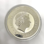 Инвестиционная монета серебро 999 Elizabeth II Australia 8 Dollars 5 oz Silver Coin, фото №3