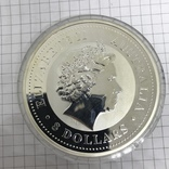 Инвестиционная монета серебро 999 Elizabeth II Australia 8 Dollars 5 oz Silver Coin, фото №8