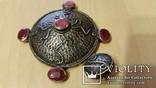 Серебряный кулон на цепочке с натуральными камнями, фото №8