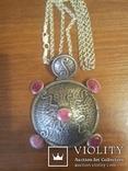 Серебряный кулон на цепочке с натуральными камнями, фото №12