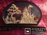 Панно-диорама резьба, Пробковое дерево/Китай/., фото №8