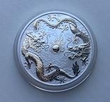 Два дракона 2019 Австралия Perth Mint Фен-Шуй, фото №2