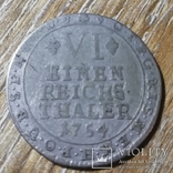 Архиепископство Кёльн 1/6 талера 1754 г., фото №2