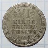 Архиепископство Кёльн 1/6 талера 1754 г., фото №4