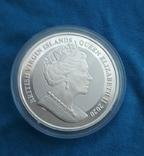 Британские Виргинские острова 1 доллар 2020 г. Парусник Мейфлауэр, фото №3
