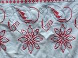 Старинный рушник с петухами, фото №8