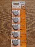 Батарейка CR2025 3v Suncom Lithium Battery Блистер 5 батереек, фото №2
