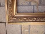 Старая рамка 31 х 21 см.,позолота., фото №4