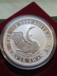 Лебедь Австралии 2020г 1унц 999 серебро Swan Лебідь Австралії Австралия 1 долар, фото №2