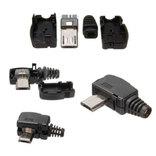 Штекер micro USB 5pin угловой с корпусом и кабельным вводом, фото №2