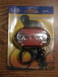 Фонарь велосипедный J-RT08 задний свет стоп 5 LED, фото №3