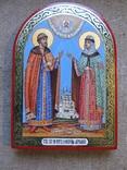 Икона святые благоверные князь Петр и княгиня Феврония Муромские., фото №3