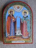 Икона святые благоверные князь Петр и княгиня Феврония Муромские., фото №4