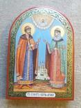 Икона святые благоверные князь Петр и княгиня Феврония Муромские., фото №5