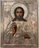 Икона «Спасителя» в серебряном окладе., фото №2