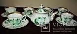 Антикварный сервиз чашки блюдца чайник клеймо TPM C.Tielsch Германия 1845-1850 г.г., фото №2