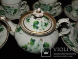Антикварный сервиз чашки блюдца чайник клеймо TPM C.Tielsch Германия 1845-1850 г.г., фото №9