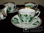 Антикварный сервиз чашки блюдца чайник клеймо TPM C.Tielsch Германия 1845-1850 г.г., фото №10