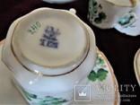 Антикварный сервиз чашки блюдца чайник клеймо TPM C.Tielsch Германия 1845-1850 г.г., фото №13