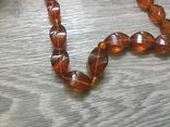 Янтарные бусы. Ожерелье, фото №3