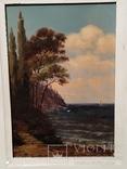 Картина в раме морской пейзаж,картон масло худКалашников, фото №7