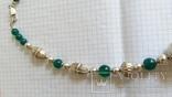 Ожерелье из серебра и зеленый агат. Италия, фото №3