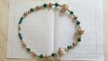 Ожерелье из серебра и зеленый агат. Италия, фото №5
