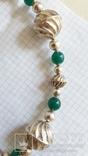 Ожерелье из серебра и зеленый агат. Италия, фото №6