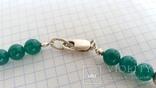 Ожерелье из серебра и зеленый агат. Италия, фото №7