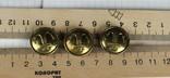 Пуговицы с якорями / 3 штуки /, тяж. металл., фото №6