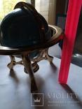 Большой кабинетный настольный глобус из полудрагоценных камней с компасом, фото №13