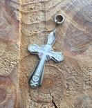 Серебряный крестик 84 проба, фото №2