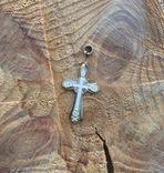 Серебряный крестик 84 проба, фото №3