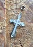 Серебряный крестик 84 проба, фото №4