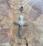 Серебряный крестик 84 проба, фото №5