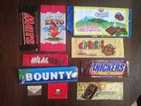 Обертки от шоколада 10 шт., импорт, разное 90х.г., фото №2