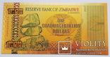 Банкнота Зимбабве 1 квадрингентиллион (10*1203) долларов. Сувенирная, фото №2