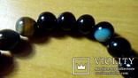 Браслет новий з природного чорного агата., фото №3