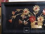 Картина натюрморт букет цветы солома, фото №2