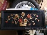 Картина натюрморт букет цветы солома, фото №3