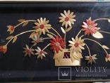 Картина натюрморт букет цветы солома, фото №4