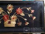 Картина натюрморт букет цветы солома, фото №5